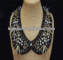 punk rivet necklace beaded fake collar fashion women jewelry