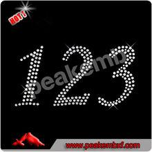 2.5 Iron-on Rhinestone Script Numbers Iron Ons M&J Trimming