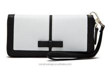 Black and white Zipper Lady Purse