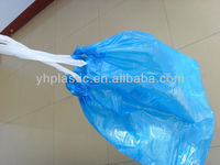 HDPE color drawstring bags,garbage bags on roll