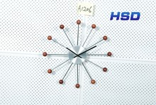 HSD Hot Selling Plastic Quartz Wall Clock For Promotion Part Number A1206