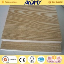 2015 ADMY wholesale cheap melamine faced wood mdf board factory price list