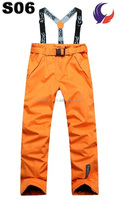 Fashion design winter outdoor ladies snowboard pants S06