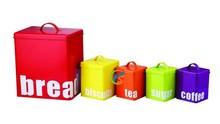 Colorful galvanized storage boxs,storage bread/biscuits/tea/sugar/coffee