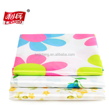 Polyester printed waterproof shower curtain