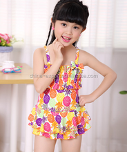 5057 2015 wholesale fashion hot sale new girls colorful candy fruit slip one piece kids swimsuit