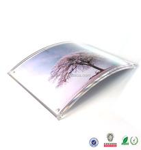 2015 nuevo invento plexiglás acrílico curvada bloque de foto