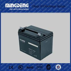 Pakistan market 24ah lead acid deep cycle solar battery