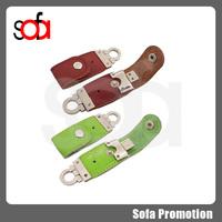 2015 creative gift leather belt usb flash drive 16g