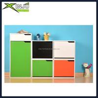 Wooden colorful shoe cabinet design