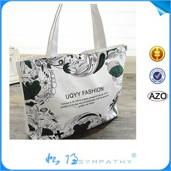 Colorful promotion cotton shopping bag plain cotton bag drawstring recyclable shopping cotton bag