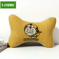 Doraemon Pattern Bone Shape Pillow Car Seat Neck Pillow Memory Foam Car Travel Neck Support Pillow