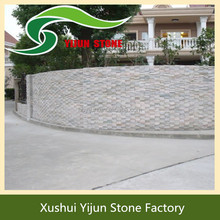 High Quality Yellow Wood Outdoor Natural Tile Grooved Cheap Stone Siding