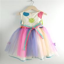 Lovely type flower cotton sundresses for little girls