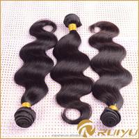 Wholesale brazilian body wave human hair 16 inch hair weft, sassy weave human hair extension, brasilian human hair