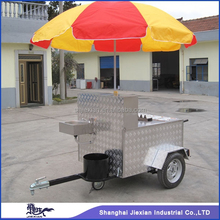 2015 Stainless Steel JX-HS120D STREET FOOD CART MOBILE FOOD CART BBQ HORSE TRAILER food vending trucks