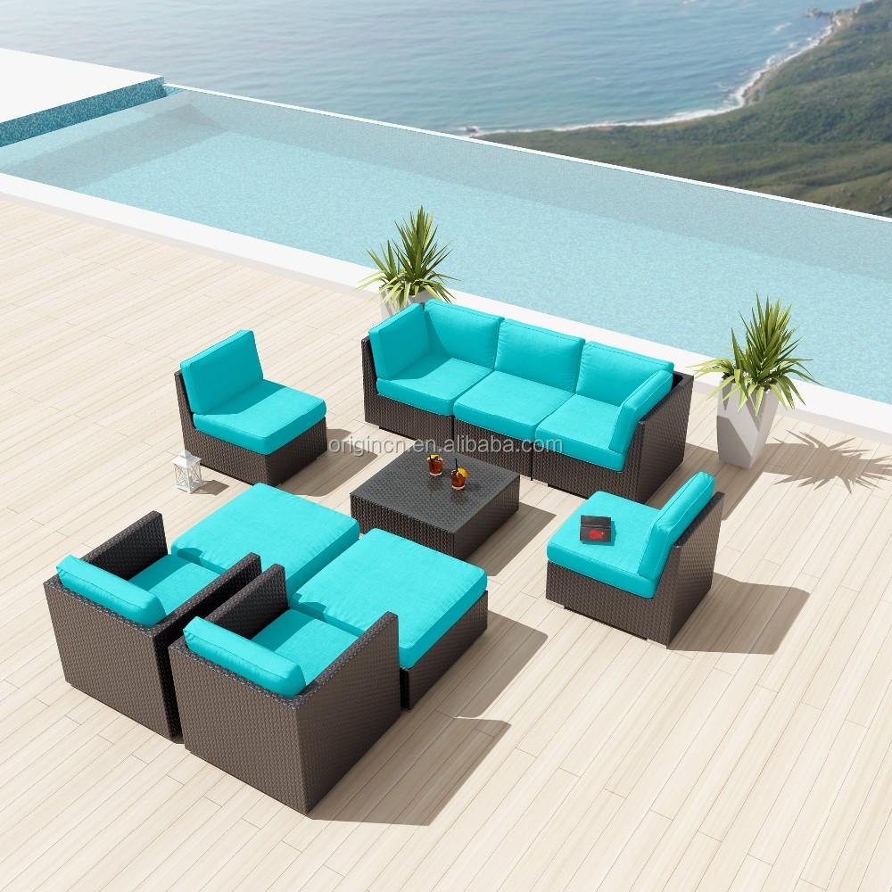 Espresso Color Profundo De Estar Modular Al Aire Libre Sof De  # Muebles Mimbre Baratos