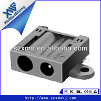 DC053(SMD)DC power jack double charging port,6feet,3.2mmX1.0mm & 2.7mmX0.7mm