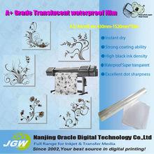 Rollos de película de plástico para la impresión, inyección de tinta película clara impresión mate de inyección de tinta