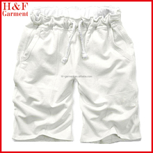 2015 stylish white shorts men made of cotton for summer