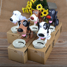 2015 New Battery Operated Puppy Toy Eating Money Plastic Bank Coin Toy