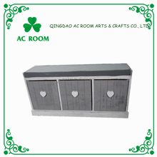 AC ROOM storage cabinet antique wood shoe cabinet with seat