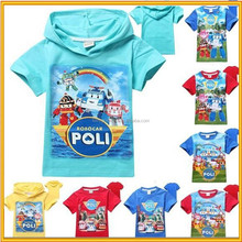 kids clothes boys T-Shirts ,lovely boy cartoon T-Shirts for summer,Robocar Poly T-Shirts