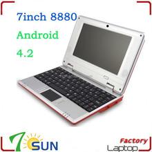 New 7 inch via 8880 mini laptop 512M 4GB Camera WIFI computer
