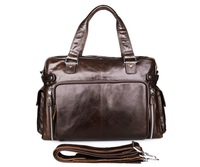 JMD 100% Guarantee Genuine Cow Leather Total Bag Unisex Messenger Bags # 7288Q
