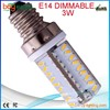 new products silicon e12 dimmable 3w led e12 corn light bulb 230v