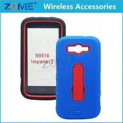 Alibaba Express For Zte N9130 Hybrid Pc+Silicone Armor Cell Phone Case Cover With Vertical Stand Mobile Phone Cases