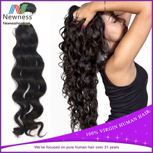 Unprocessed virgin indian hair/Human remy hair free weave/Free weave hair packs