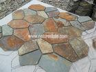 rusty ardósia pedra de pavimentação