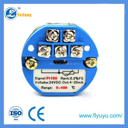 Feilong pt100 temperature transmitter 4 20ma