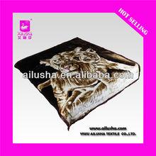 ALS-DESIGN8137 yiwu tiger polyester blanket
