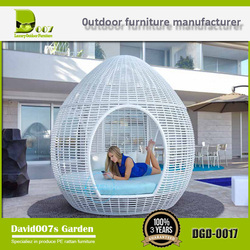 Luxury hotel furniture outdoor round bed with canopy