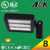 UL DLC cUL TUV GS CE RoSH SAA 8 years Warranty 120W LED Parking Lot Light with 120lm/w