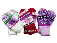promotional export to EU pretty winter warm soft mitten glove