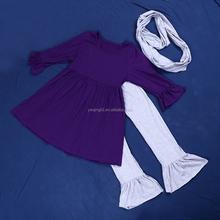 Hot Sale Cotton Women 3 Pcs Sets With The Scarf QL-12