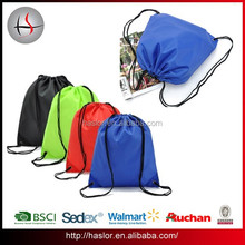 210D Polyester Cheap Outdoor Backpack Drawstring Sports Bag for Promotion