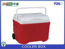 New model plastic cooler box with handle and wheels