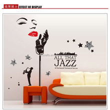 Special design Marilyn Monroe Wall Decals,Words and Jazz Singer Music Wall stickers Removable Large Size 60*90cm stickers AY9100