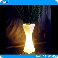 Alibaba China home/garden/party decoration waterproof high tech led flower vase/led light vase with remote control