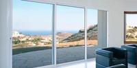 Hot sale impact resistant glazing aluminum 3 panel sliding closet doors