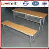 Durable and compact style wood child study desk and chair