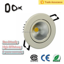 3 years warranty isolated driver pure white led downlight dimmable