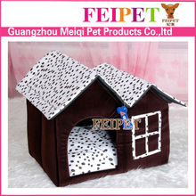 Soft fabric dog house double pet house products