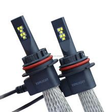 Track head flexible adjust high lumens 6000k 12volt led head light 9004 dual beam 40W