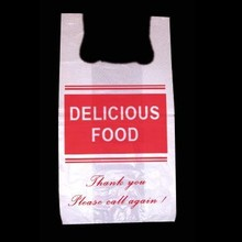 m3-223 THANK YOU Standard Degradable Vest Style Plastic Carrier Bags HDPE Customized Designs
