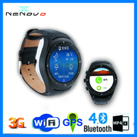 Wristwatches Heart Rate Monitor MTK Compatible With IOS And Android Phone BT 4.0 Bluetooth Round Smart Watch